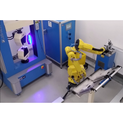 Automated robotic workstations for tensile, compression tests
